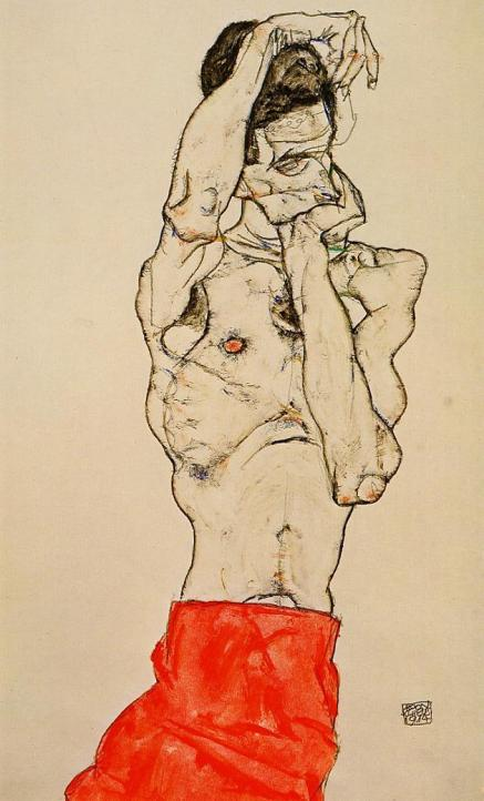 standing-male-nude-with-a-red-loincloth-1914
